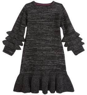 Andy & Evan Little Girl's Ruffle Knit Shift Dress
