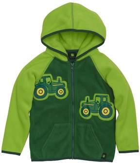 John Deere Toddler Boy Tractor Appliques Zip Hoodie