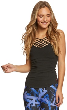 Hard Tail Front Lace Low Back Support Tank Top 8165075