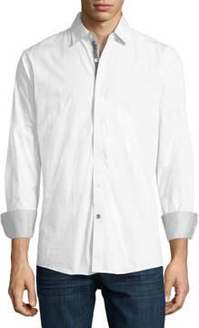 English Laundry Dobby Sport Shirt, White