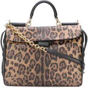 Dolce & Gabbana leopard print shoulder bag