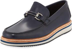 Salvatore Ferragamo Gancini Calf Sneaker-Style Loafer