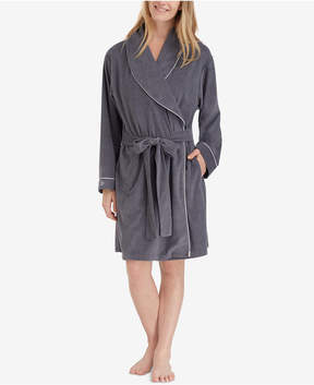 Eileen West Shawl-Collar Terry Wrap Robe