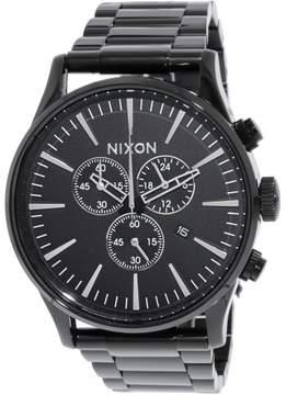 Nixon Men's A386001 Black Stainless-Steel Plated Japanese Quartz Dress Watch