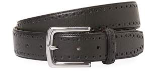 Cole Haan Men's Perforated Trim Leather Dress Belt