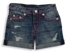 True Religion Toddler's, Little Girl's & Girl's Boyfriend Shorts