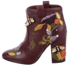 Laurence Dacade Embroidered Leather Booties w/ Tags