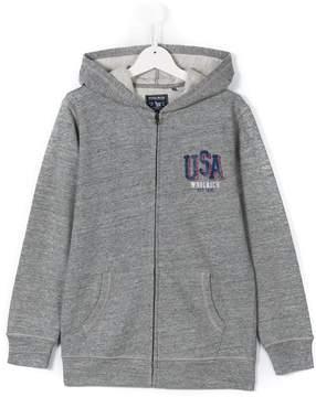 Woolrich Kids Teen USA print hoodie
