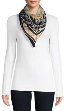 Versace Women's Silk Tile Scarf