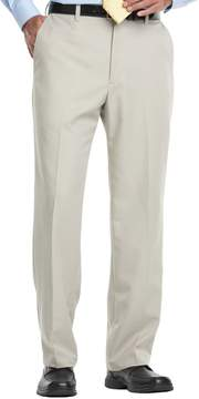 Haggar Big & Tall Cool 18 Classic-Fit Flat-Front No-Iron Expandable Waist Pants