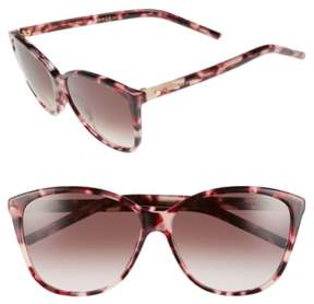 Marc Jacobs Women's 58Mm Butterfly Sunglasses - Pink Havana