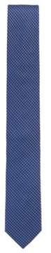 BOSS Hugo Micro-Patterned Italian Silk Slim Tie One Size Blue