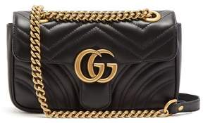 Gucci Gg Marmont Small Quilted Leather Cross Body Bag - Womens - Black