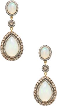Amrapali Women's 18K Yellow Gold, Opal & 2.65 Total Ct. Diamond Drop Earrings