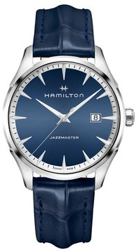 Hamilton Jazzmaster Gent Leather Strap Watch, 40Mm