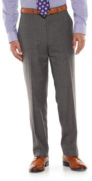 Chaps Men's Performance Classic-Fit Wool-Blend Comfort Stretch Flat-Front Suit Pants