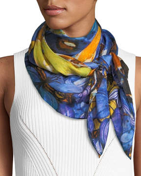 Neiman Marcus Silk Vintage Floral Scarf