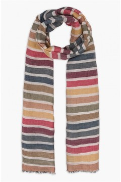Sonia Rykiel Striped Linen And Cotton Stole