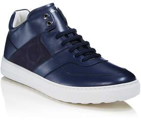 Salvatore Ferragamo Men's Cliff Leather Mid Top Sneakers - 100% Exclusive