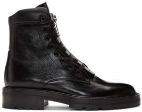 Saint Laurent Black William Front Zip Boots