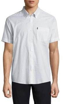 Barbour Theo Micro Printed Button-Down Shirt