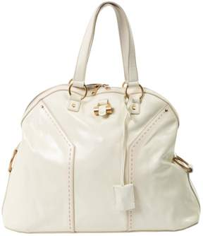 Saint Laurent Muse patent leather handbag - ECRU - STYLE
