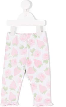 Miss Blumarine strawberry print leggings