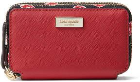 Kate Spade Rooster Red Laurel Way Hazy Rose Rosie Leather Wallet
