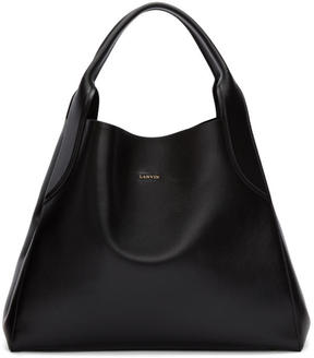 Lanvin Black Medium Cabas Tote