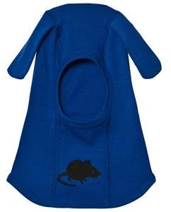 Mini Rodini Blue Mr Mouse Wool Balaclava