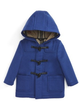 Burberry Infant Boy's Brogan Hooded Wool Toggle Coat