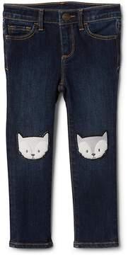 Gap Fox Patch Skinny Jeans with High Stretch