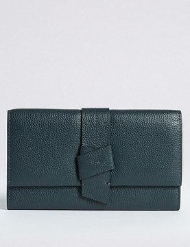 Marks and Spencer Leather Knot Detail Purse with CardsafeTM