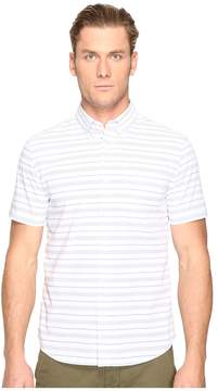 Jack Spade Short Sleeve Horizontal Variated Stripe Button Down