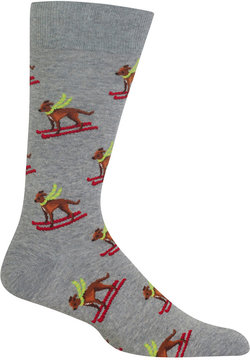 Hot Sox Men's Ski Dog Socks