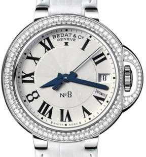 Bedat & Co N_8 Stainless Steel Diamond Bezel 36.5 mm Womens Watch