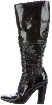 Alaia Laser Cut Knee-High Boots