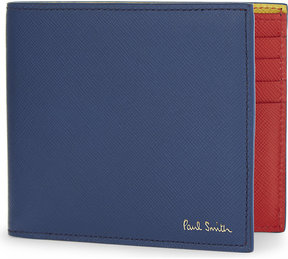Paul Smith Accessories Saffiano leather billfold wallet