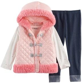 Little Lass Baby Girl Faux Fur Vest