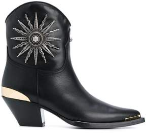Fausto Puglisi embellished pointed toe boots