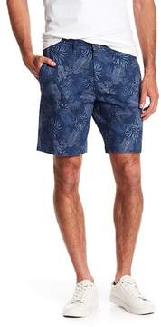 English Laundry Leaf Patterned Stretch Fit Shorts
