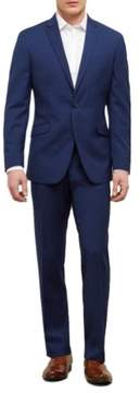 Kenneth Cole New York Reaction Kenneth Cole Slim Fit Nested Mini Check Suit with Finished Hem - Men's - Bright