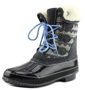 Khombu Jenna Women Round Toe Synthetic Gray Winter Boot.