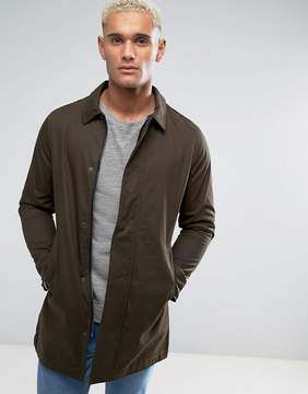 Brave Soul Classic Trench with Check Lining