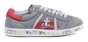 Premiata Andy-d 3077 Grey And Red Sneakers