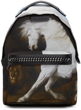 Stella McCartney Black Medium Pegasus Falabella GO Backpack