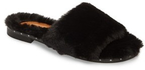 Kenneth Cole New York Women's Peggy Faux Fur Slide Sandal