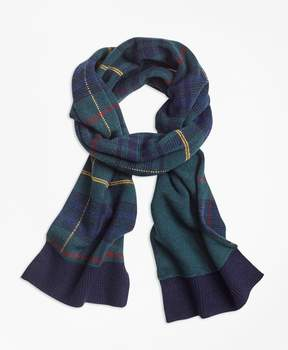Brooks Brothers Tartan Merino Wool-Blend Scarf