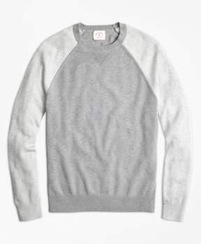 Brooks Brothers Color-Block Cotton-Cashmere Sweater
