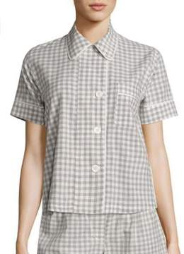 Araks Shelby Organic Cotton Gingham Pajama Top